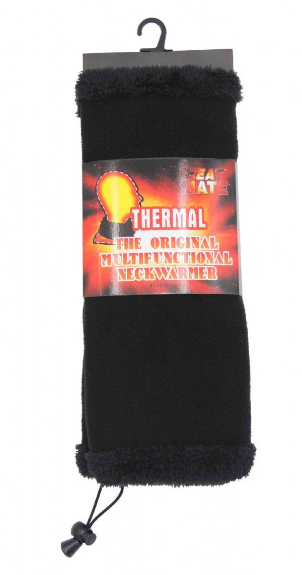 Black Fur inside Neck warmer NW583577